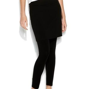 New Eileen Fisher Skirted Pants Large Black